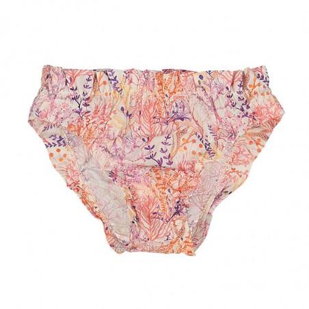Liberty print bikini with ruffles on waist and thighs