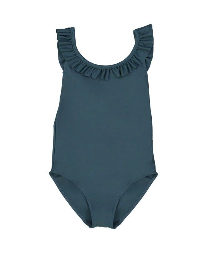 Pine green girl sun protective swimwear by Canopea