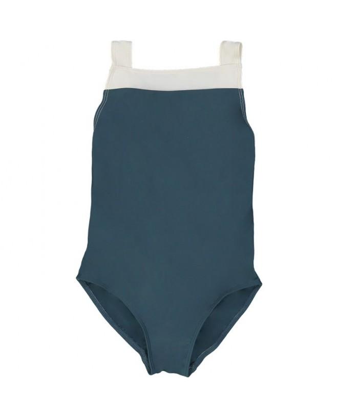 Pine green girl sun protective swimwear by Canopea
