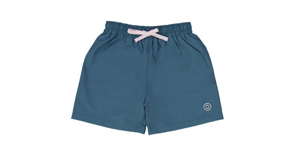 maillot de bain short garçon vert pin devant