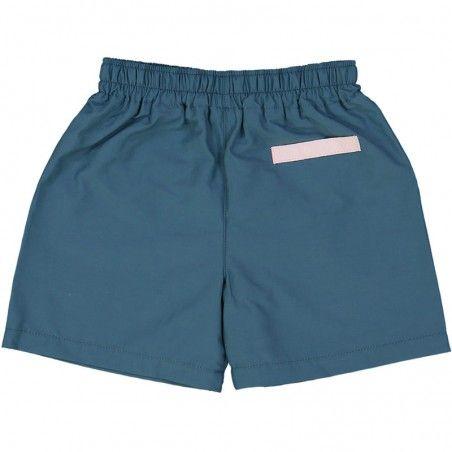 maillot de bain short garçon vert pin dos