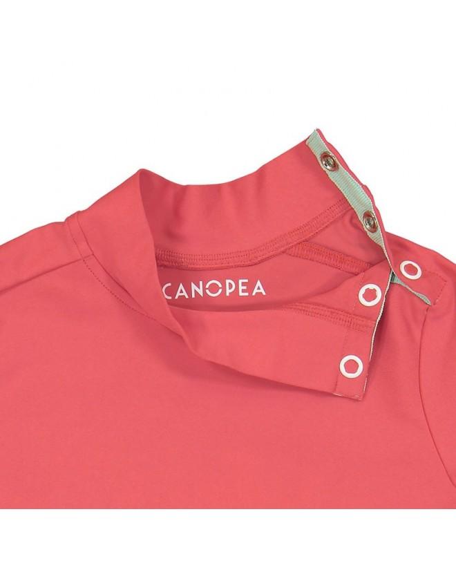 Détail du T-shirt anti UV rouge Fragola pour enfant, fille et garçon de Canopea