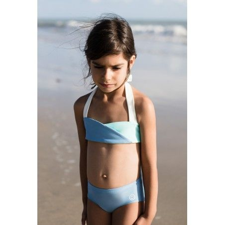 Boxer de bain anti UV ardoise pour filles