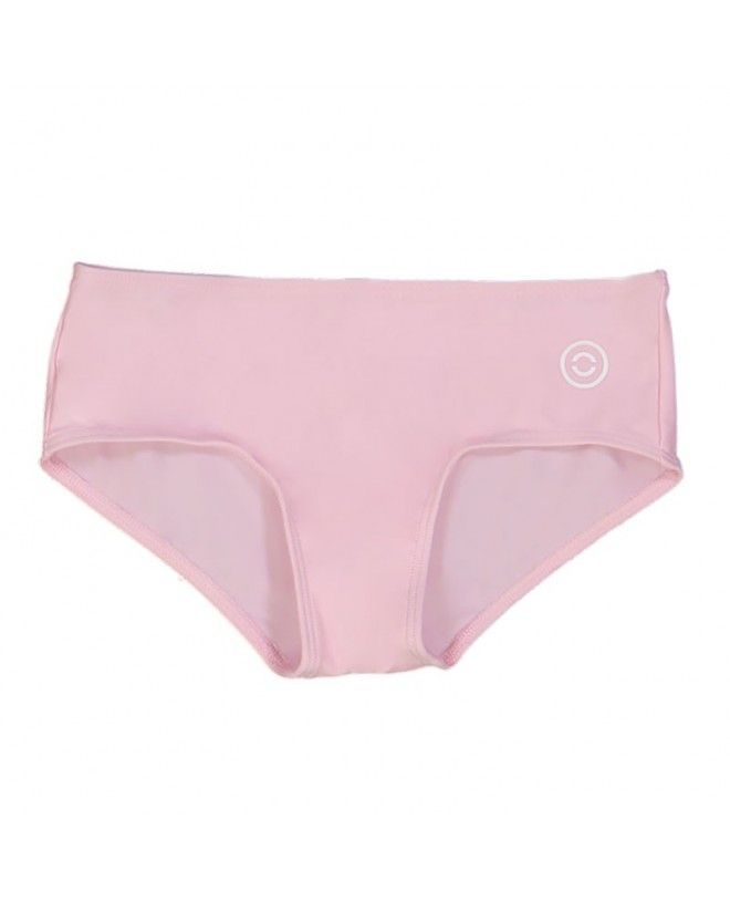 Dragee pink sun protective bikini bottoms for girls