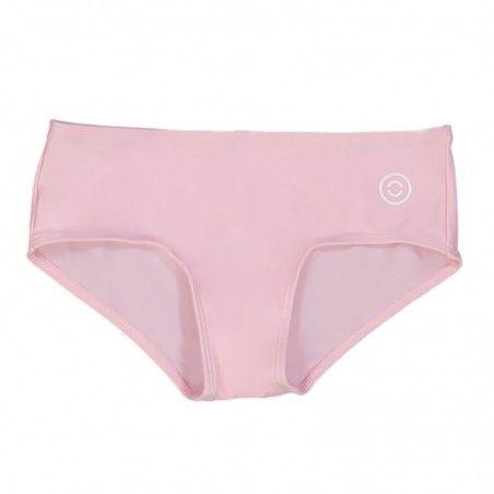 Dragee pink sun protective bikini bottoms for girls