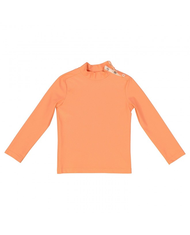 Haut anti uv pour enfant orange abricot