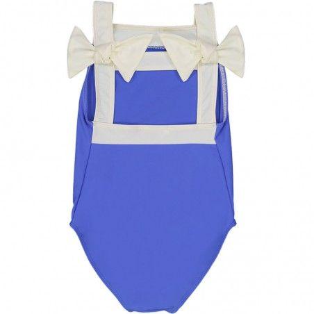 Maillot de bain une piece anti-uv bleu indigo Layla pour fille de Canopea