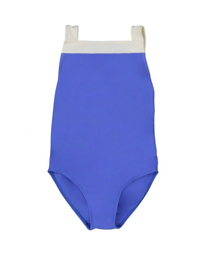 Indigo blue girl sun protective swimwear by Canopea