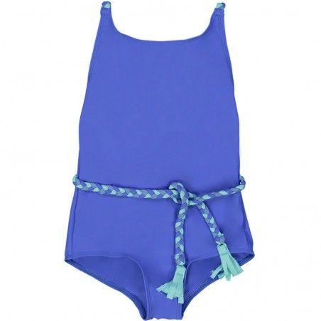 Maillot de bain une piece anti-uv Indigo blue pour fille de Canopea