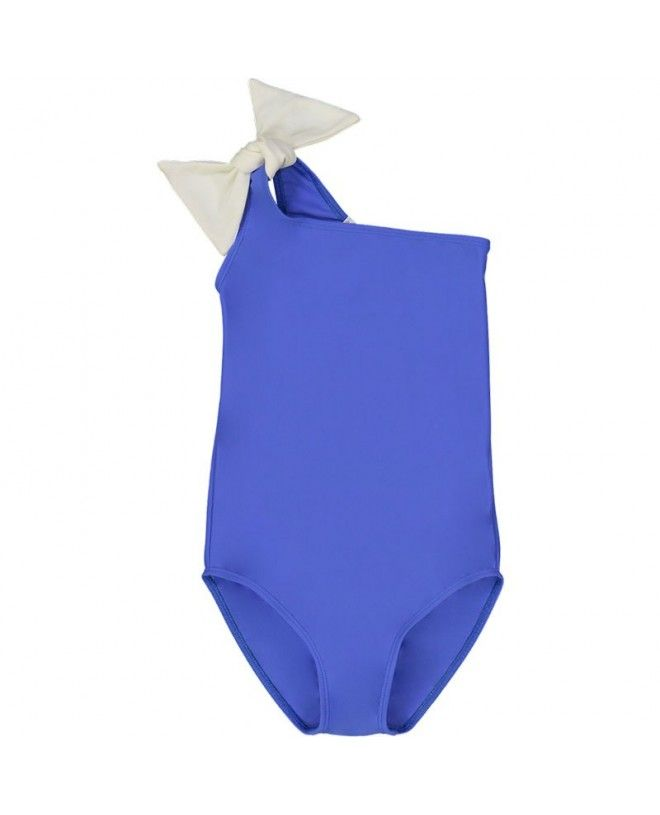Indigo blue girl sun protective swimwear by Canopea