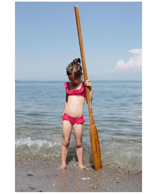 Maillot de bain anti UV couleur rouge Fragola pour fille