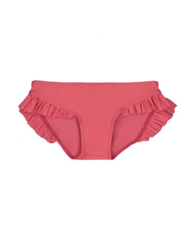Culotte de maillot de bain anti UV couleur rouge Fragola pour fille