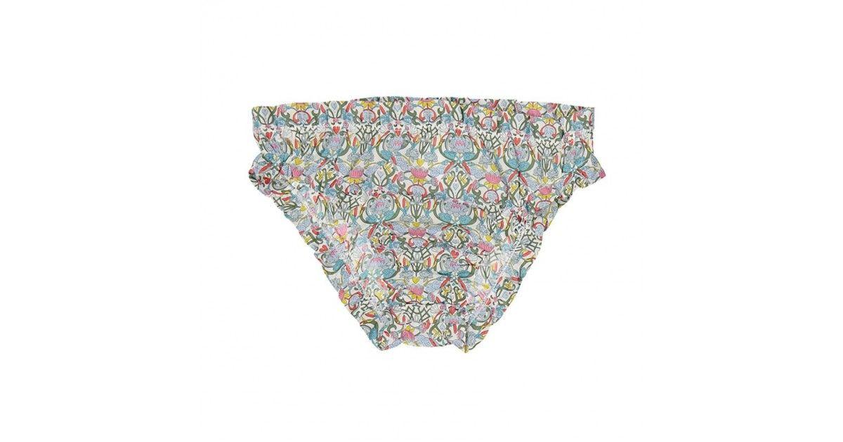 Culotte de bain en tissu liberty avec fronces sur les cuisses et taille de Canopea
