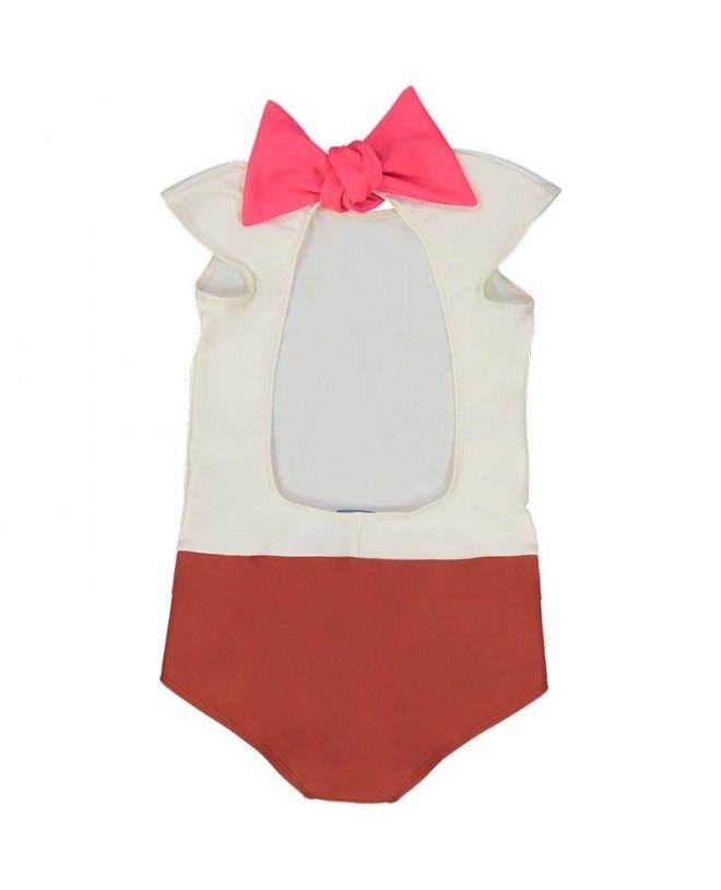 Bi-color Sienna sun protective swimwear for girls by Canopea