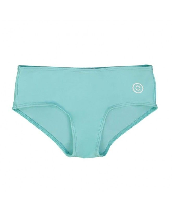 Aqua green sun protective bikini bottoms for girls