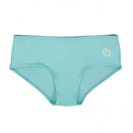 Aqua green sun protective bikini bottoms for girls