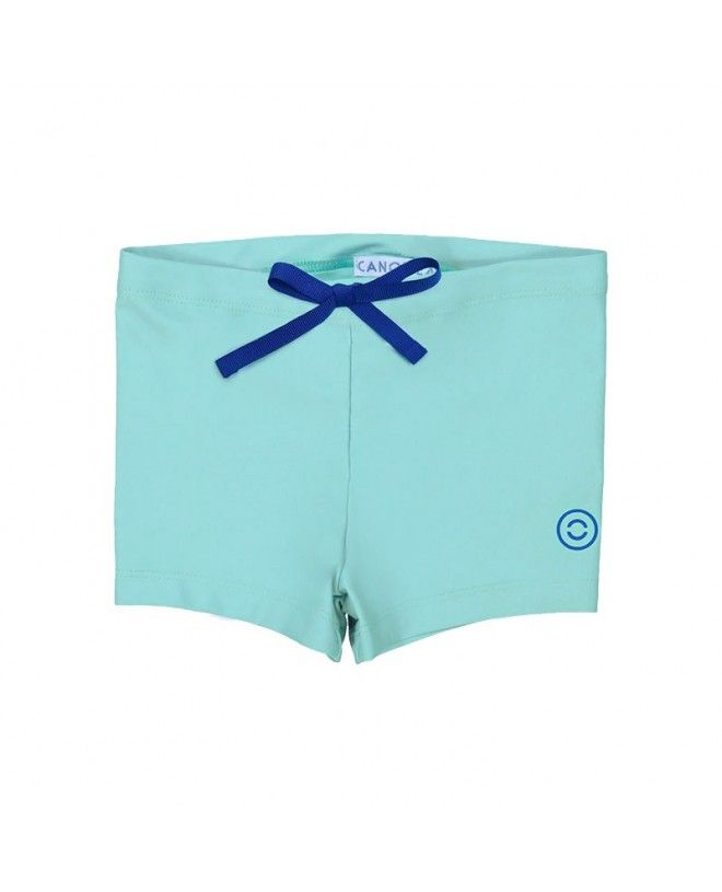 Sun protective swimsuit for boys in Aqua green by Canopea