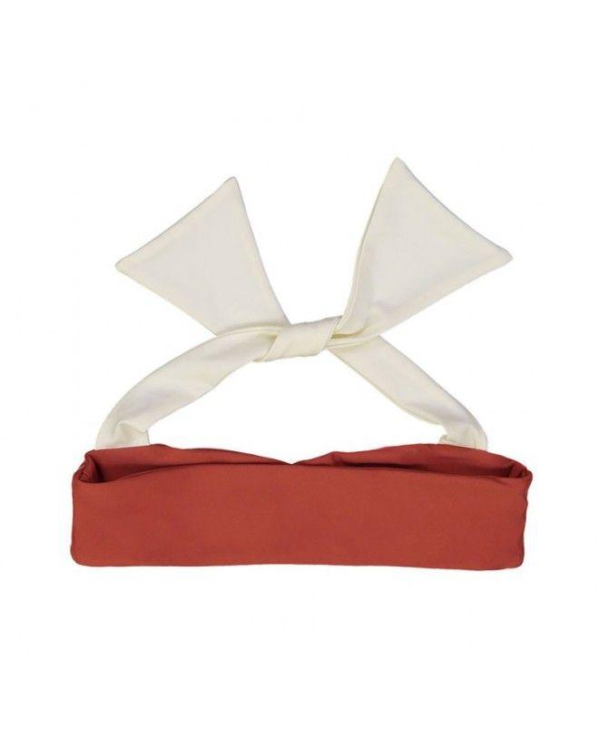 Sienna reversible bikini top with ivory white neck wrap