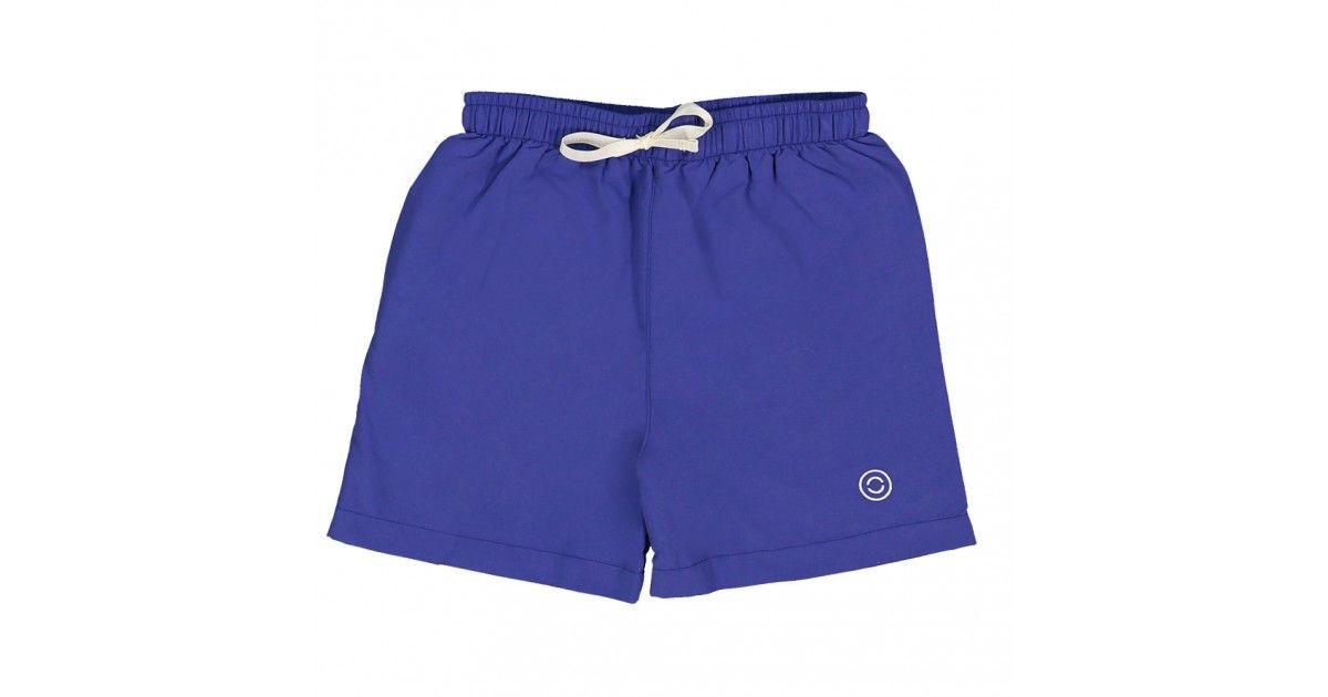 Short maillot de bain garçon CANOPEA bleu indigo devant