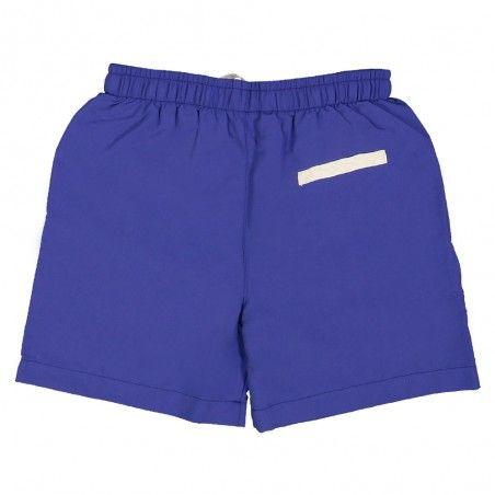 Short maillot de bain garçon CANOPEA bleu indigo derriere