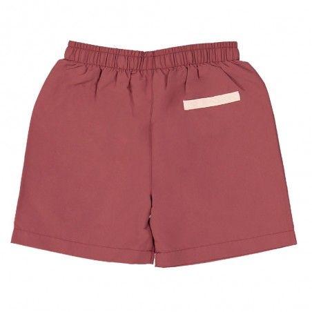 Short maillot de bain garçon CANOPEA rouge Marsala derrière