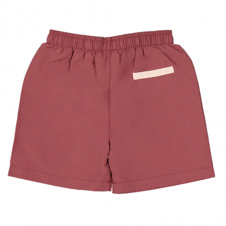Boy swimming shorts by CANOPEA in Marsala red