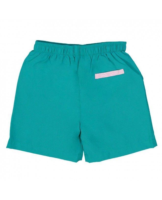 Short maillot de bain garçon CANOPEA vert Bari derrière