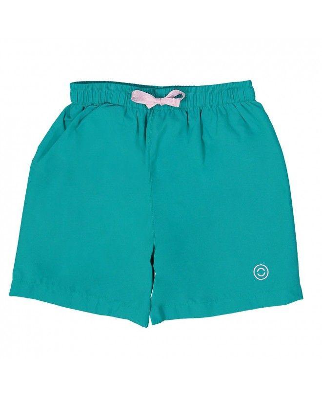 Short maillot de bain garçon CANOPEA vert Bari devant