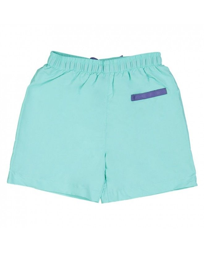 Aqua green swim shorts for boys by Canopea