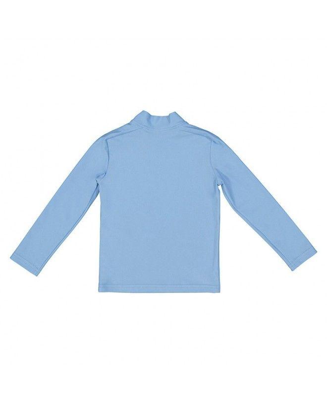 Tee-shirt anti UV bleu ardoise pour enfant, fille et garçon de Canopea