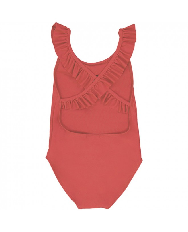 Grenada red girl sun protective swimwear by Canopea