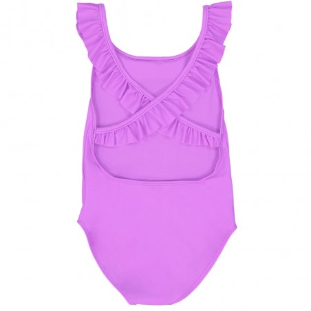Orchid pink girl sun protective swimwear by Canopea