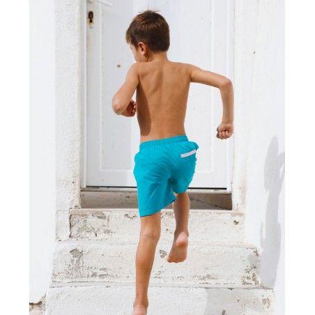 Boy swimming shorts by CANOPEA in Bari green