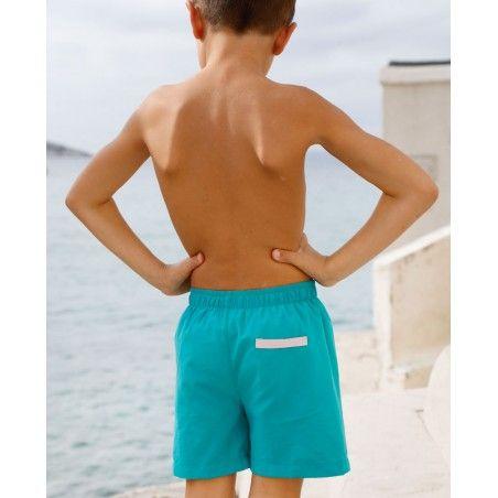 Short maillot de bain garçon CANOPEA vert Bari dos
